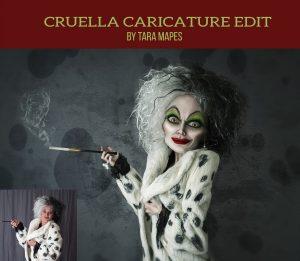 Cruella Caricature Tutorial - Tara Mapes